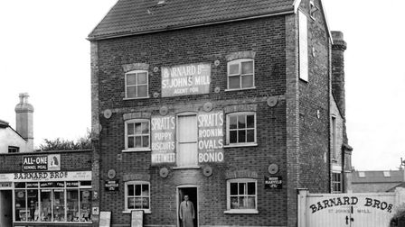 Do you remember when Barnard Brothers, Woodbridge Road shop looked like this around 1950?