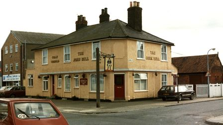The John Bull public house at the junction of Kirby Street, Ipswich, closed in the autumn of 2011. P