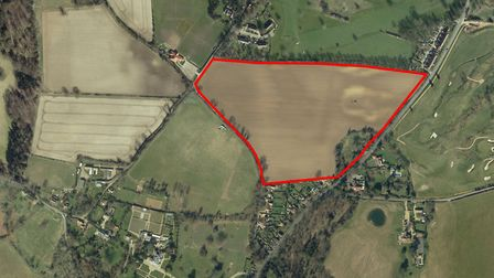 The site of the Yarmouth Road homes application in Melton. Picture: ARCHANT LIBRARY