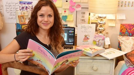 Ms Wright has become a successful children's book author. Picture: Nick Butcher