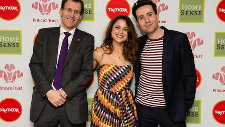 Gracie Wright, who has been shortlisted for a Pride of Britain Award, with Nick Grimshaw at the Prin
