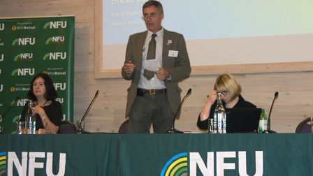 Will Dickinson, Chair of the NFU speaking at the NFU Brexit Roadshow