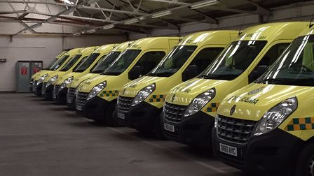 East of England Ambulance Service NHS Trust patient transport service vehicles