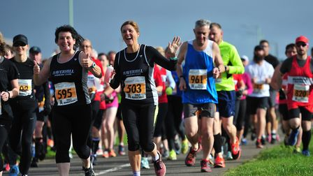 It's all smiles at the inaugural staging of the Unique Bars Bury Festival of Running, held from More