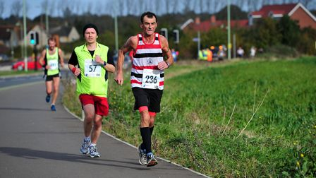 Runners take to the streets in the Bury St Edmunds 10K. Picture: SARAH LUCY BROWN