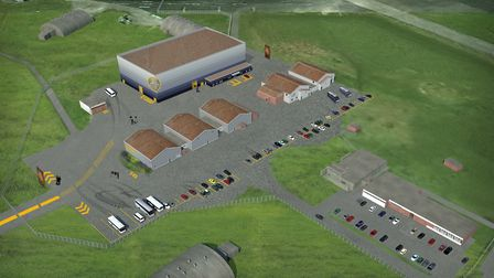 A CGI-image showing how the film studio complex would look at the former Bentwaters air base. Pictur