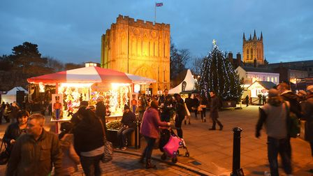 Bury St Edmunds Christmas Fayre in 2016. Picture: GREGG BROWN