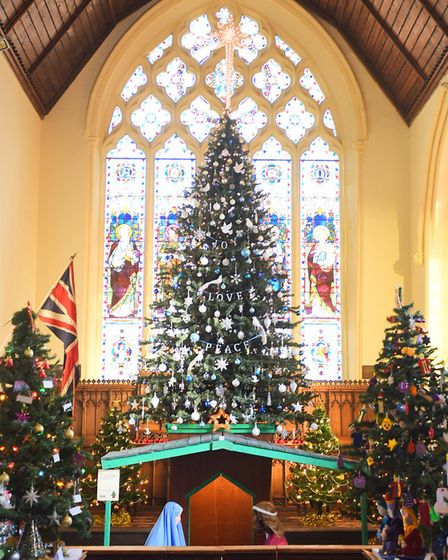 Stowmarket Christmas Tree Festival 2016. St Peter and St Marys Church.