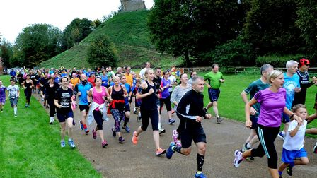 Runners at the inaugural Clare Castle parkrun. Picture: ANDY ABBOTT