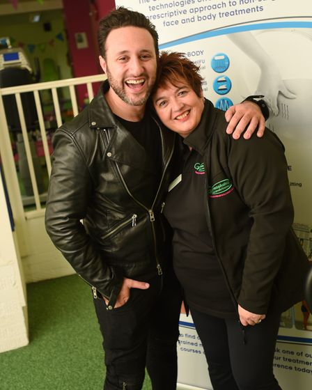Antony Costa with Bliss and Gymphobics' owner Jackie Stuart. He was prompted to get treatment by Mai
