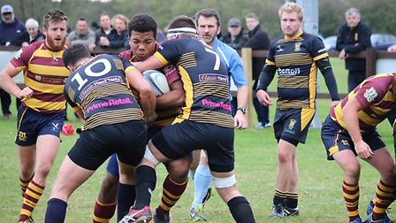 Ipwich YM on the charge in their win over the Ipswich Magpies. Picture: CONTRIBUTED