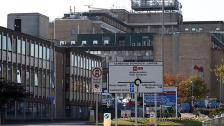 The woman was taken to Addenbrooke's Hospital in Cambridge, where she is now said to be in a stable