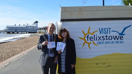Launch of the Felixstowe Christmas card competition. Picture: FELIXSTOWE TOWN COUNCIL