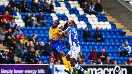 Kane Vincent-Young, battling with Mansfield's Omari Sterling-James. He could return from injury this