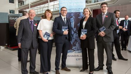 Robert Lee of Marketing Kinetics, Marcella M'Rabety, Stansted Airport CSR manager, Brad Miller, Stan