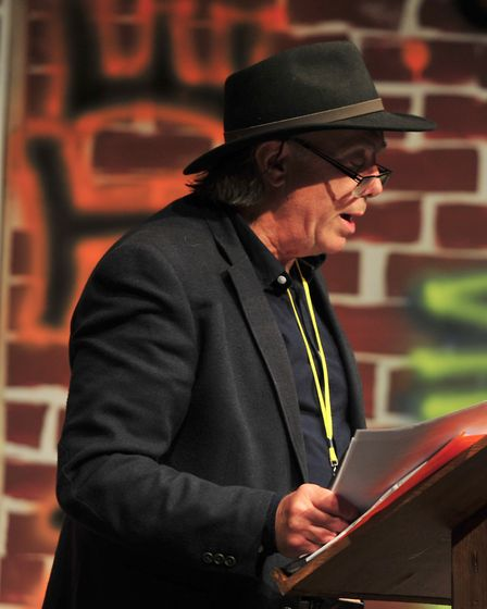 Ian Griffiths speaking at the Seckford Theatre. Picture: SARAH LUCY BROWN