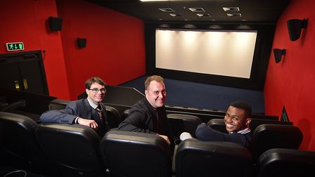 Gorleston Palace Cinema is the latest cinema to open in East Anglia. Left to right, cinema manager L
