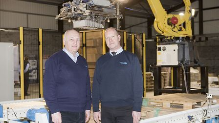Pacepacker managing director Dennis Allison, left, with technical director Richard Gladwin. Picture