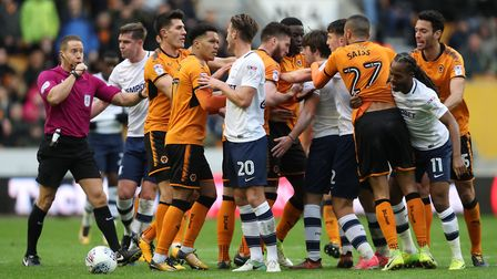 Tempers fray between Preston and Wolves players recently. The Lilywhites have lost their last three