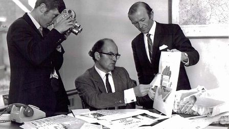 Don Simpson during his time working at the EADT. Picture: CONTRIBUTED