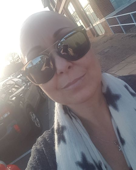 Beth Manister has braved the shave in name of charity. Picture Beth Manister