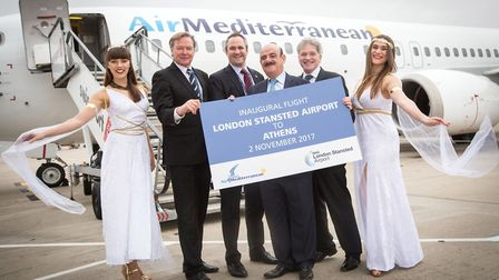 (left to right) Mats Sigurdson, London Stansted aviation director, Martin Jones, London Stansted com
