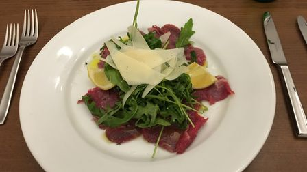Restaurant review, Sorano's. Colchester. Pictures: Charlotte Smith-Jarvis: The carpaccio could have