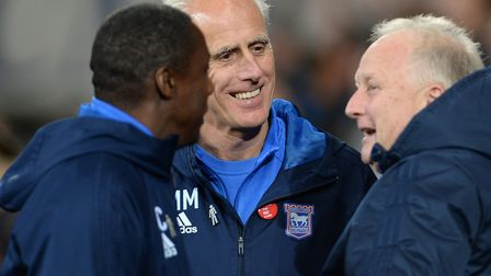 Ipswich Town boss Mick McCarthy, pictured at Cardiff in midweek. Photo: Pagepix