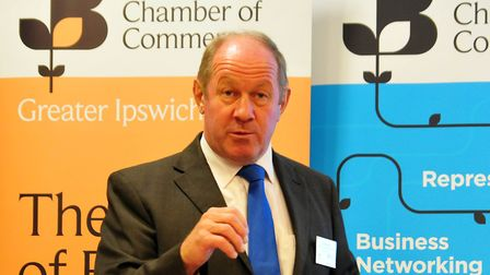 Tim Passmore speaking at a Suffolk Chamber in Greater Ipswich networking brunch last month.