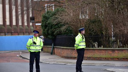 File image of police in Queen Street, Colchester. Picture: SARAH LUCY BROWN
