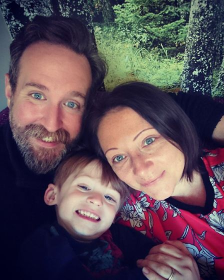 Si and Claire Owen with their son, Arian. Picture: CLAIRE OWEN
