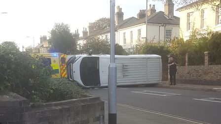 Crash at top of Orford street crossing Anglesea road. Picture: CONTRIBUTED