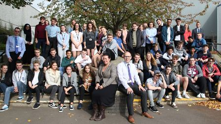 The class of 2017-18 pose for the photograph. Picture: ORMISTON ACADEMY