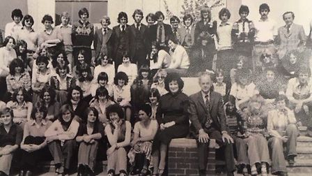The first sixth form cohort of 1977/78 at Sudbury Upper School. Picture: SUPPLIED BY ORMISTON ACADEM