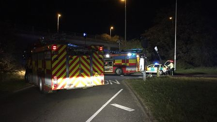 A12 Kelvedon northbound closed due to a serious RTC. Picture: Colin Shead