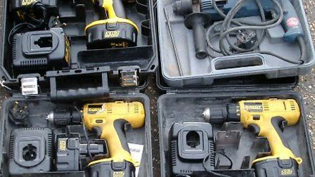 More than �25,000 worth of power tools has been taken in the thefts. File picture: CONTRIBUTED