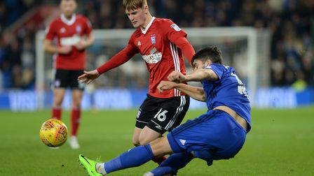 Callum Connolly challenges at Cardiff Picture Pagepix