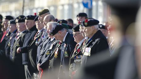A previous Remembrance Day ceremony at Lowestoft