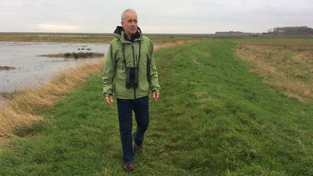 Environmentalist Gary Lowe, who initiated the Wild Villages iniative for Alderton, Bawdsey, Hollesle