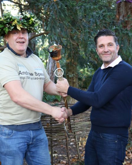 Andrew Speed was cronwed King of the Jungle at the event. Picture: ST NICHOLAS HOSPICE CARE