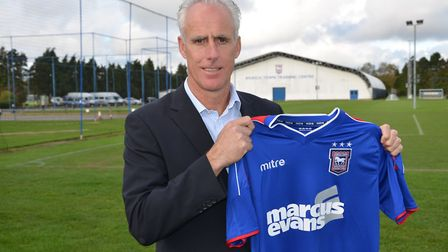 Mick McCarthy on the day he was named Town boss. Picture: ITFC
