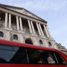 A bus pasing the Bank of England in London. Picture: Stefan Rousseau/PA Wire