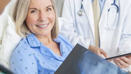 A hospital patient. Stock image