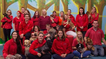 Members of the team at Suffolk Canine Creche.