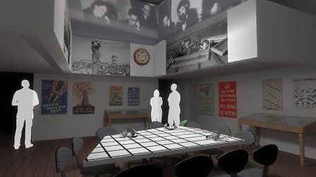 An artist's impression of the operation's room at the Guildhall, in Bury St Edmunds