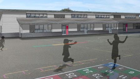 An artist's impression of Holland Haven Primary School. Picture: ESSEX COUNTY COUNCIL