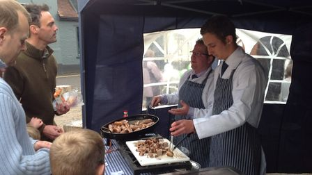 The couple had family visit for The Great Framlingham Sausage Festival. Picture: ARCHANT LIBRARY