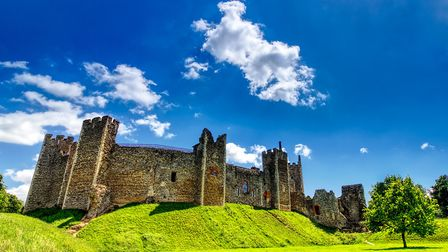 The couple have been particularly impressed by Framlingham Castle. Picture: ALEX ROOD