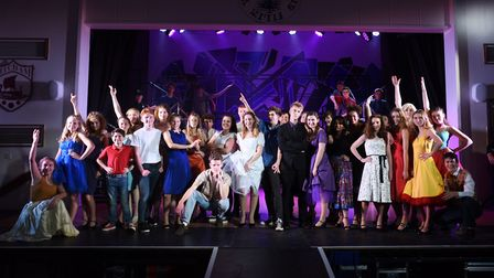 Dress rehearsal of West Side Story at Thomas Mills High School. Picture: GREGG BROWN