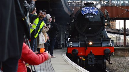 Flying Scotsman always attracts thousands of fans wanting to see it. Picture: NETWORK RAIL